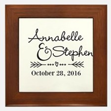 Couples Names Wedding Personalized Framed Tile
