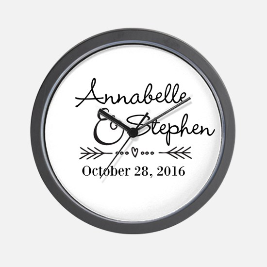 Couples Names Wedding Personalized Wall Clock