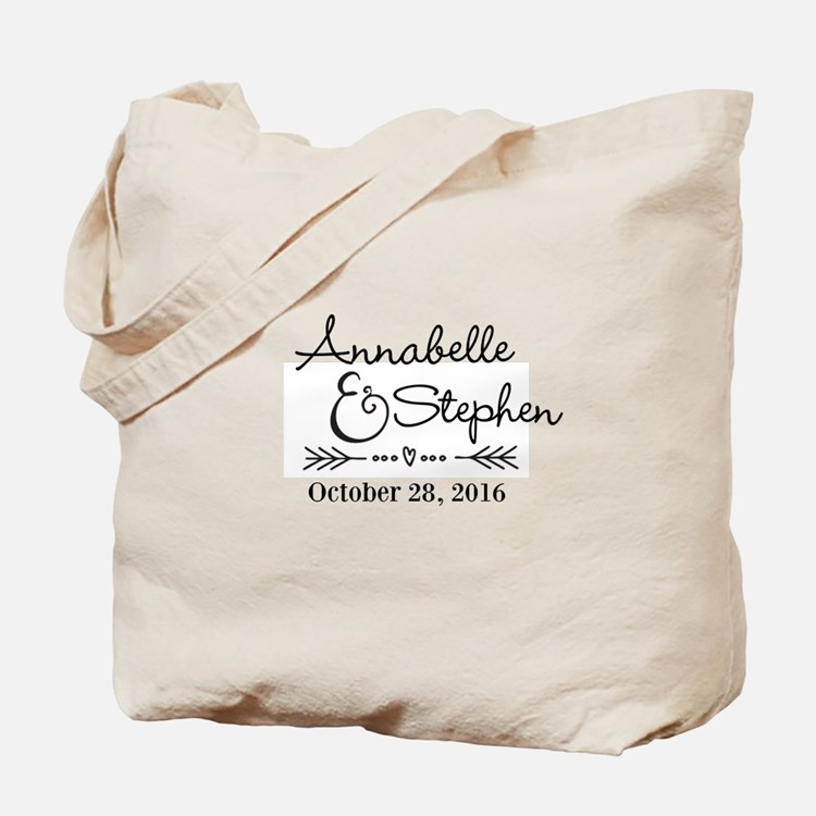 Couples Names Wedding Personalized Tote Bag