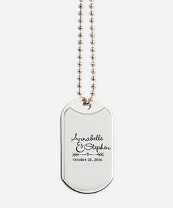 Couples Names Wedding Personalized Dog Tags