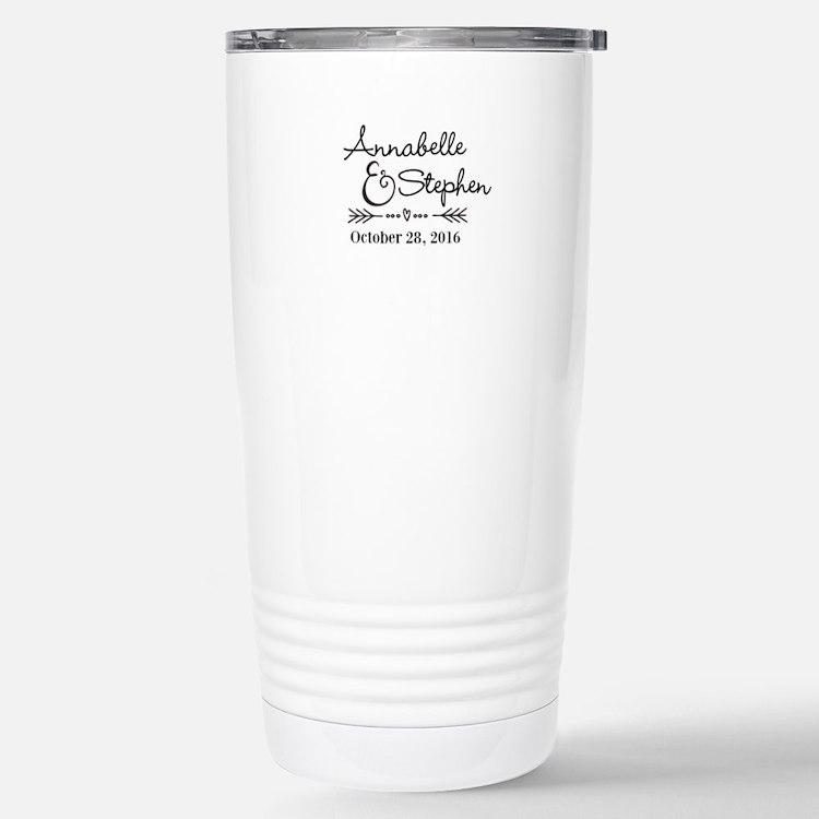 Couples Names Wedding Personalized Travel Mug