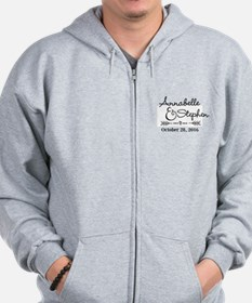 Couples Names Wedding Personalized Zip Hoodie