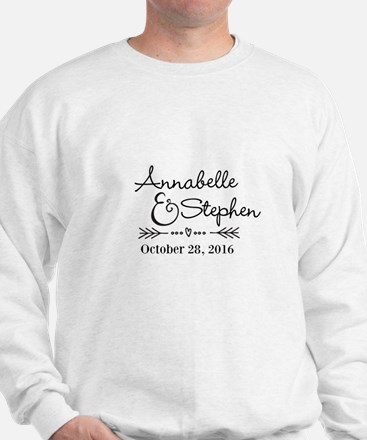Couples Names Wedding Personalized Sweater