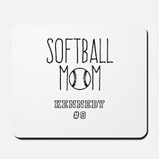 Personalized Softball Mom Mousepad