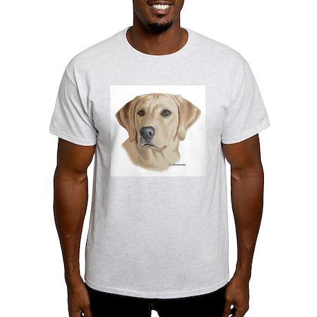 Young Yellow Lab Ash Grey T-Shirt