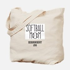 Personalized Softball Mom Tote Bag