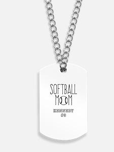 Personalized Softball Mom Dog Tags