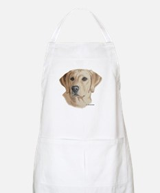 Young Yellow Lab BBQ Apron