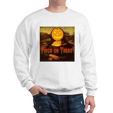 Mona Lisa Jack-o-lantern Sweatshirt
