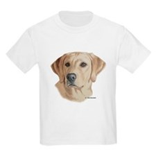Young Yellow Lab Kids T-Shirt