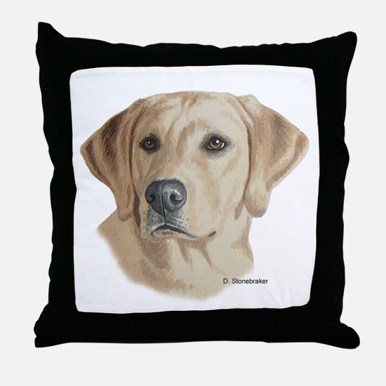 Young Yellow Lab Throw Pillow
