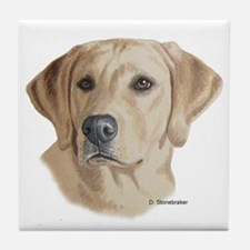 Young Yellow Lab Tile Coaster