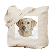 Young Yellow Lab Tote Bag
