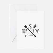 Personalized True Love Arrows Greeting Cards