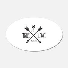 Personalized True Love Arrows Wall Decal