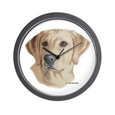 Young Yellow Lab Wall Clock