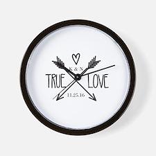 Personalized True Love Arrows Wall Clock