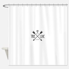 Personalized True Love Arrows Shower Curtain