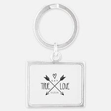 Personalized True Love Arrows Keychains