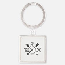 Personalized True Love Arrows Keychains