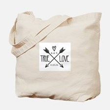 Personalized True Love Arrows Tote Bag