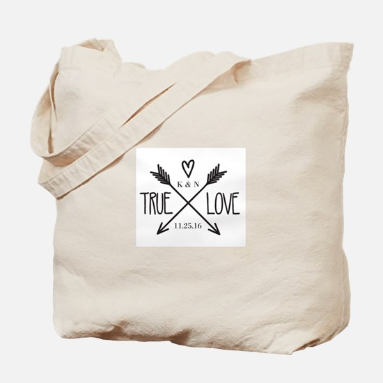 Personalized True Love Arrows Tote Bag