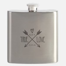 Personalized True Love Arrows Flask