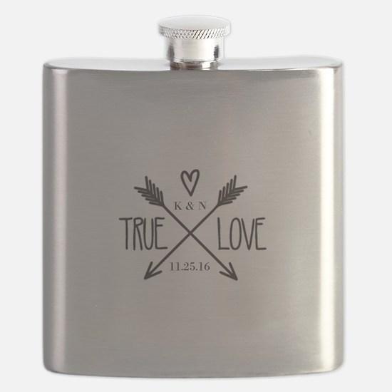 Personalized True Love Arrows Flask