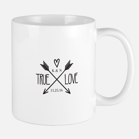 Personalized True Love Arrows Mugs