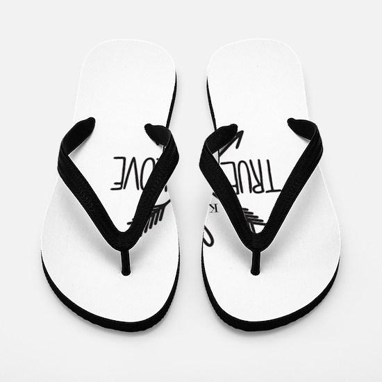 Personalized True Love Arrows Flip Flops