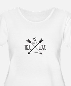 Personalized True Love Arrows Plus Size T-Shirt