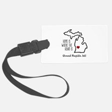 Personalized Michigan Heart Luggage Tag