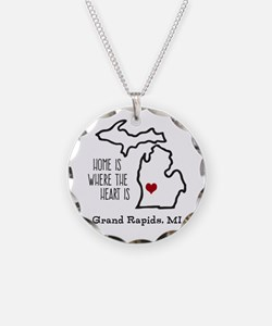 Personalized Michigan Heart Necklace
