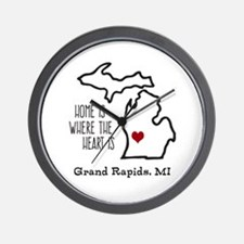Personalized Michigan Heart Wall Clock