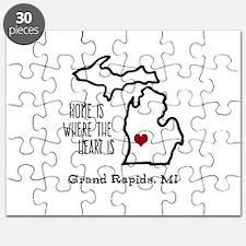 Personalized Michigan Heart Puzzle