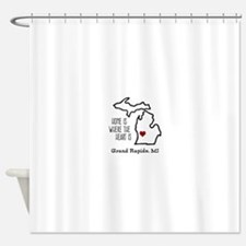 Personalized Michigan Heart Shower Curtain