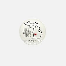 Personalized Michigan Heart Mini Button (10 pack)
