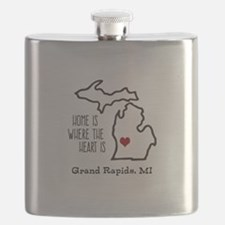 Personalized Michigan Heart Flask