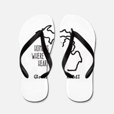 Personalized Michigan Heart Flip Flops