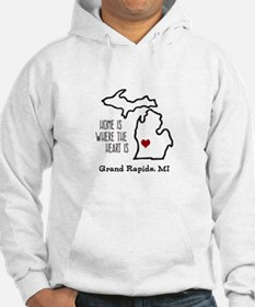 Personalized Michigan Heart Hoodie