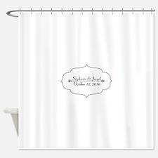 Elegant Wedding Name and Date Custom Shower Curtai