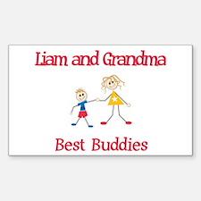 Liam & Grandma - Buddies Rectangle Decal