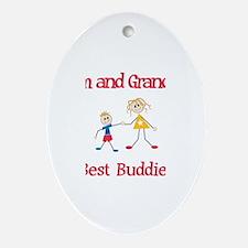 Liam & Grandma - Buddies Oval Ornament