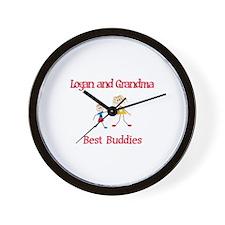 Logan & Grandma - Buddies Wall Clock