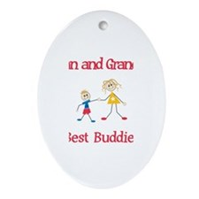 Logan & Grandma - Buddies Oval Ornament