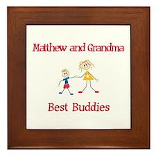 Matthew & Grandma - Buddies Framed Tile