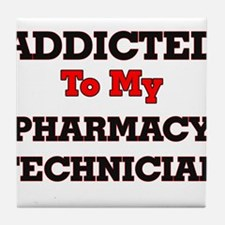 Addicted to my Pharmacy Technician Tile Coaster