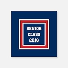 """Red White Blue Senior Gradu Square Sticker 3"""" x 3"""""""