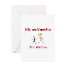 Mike & Grandma - Buddies Greeting Card