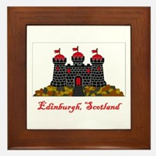 Edinburgh Scotland Flag Framed Tile
